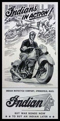 Vintage Brochures: Indian 1943 (Usa)