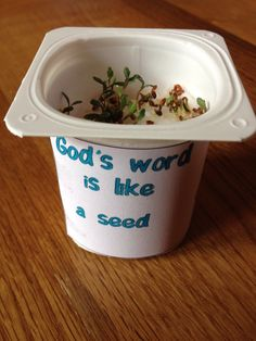 VBS crafts The sower and the seed cress craft Seed Crafts For Kids, Vbs Crafts, Preschool Crafts, Sunday School Lessons, Sunday School Crafts, Parable Of The Sower For Kids, Harvest Crafts, Children's Church Crafts, Christian Crafts