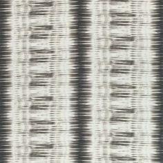 Thibaut Ikat Stripe Fabric in Charcoal