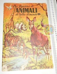 ANIMALI-DI-TUTTO-IL-MONDO-50s-Lampo-album-figurine-mancano-6-figurine Sticker Books, Comic Books, Album, Comics, Cover, Stickers, Ebay, Art, Comic Book