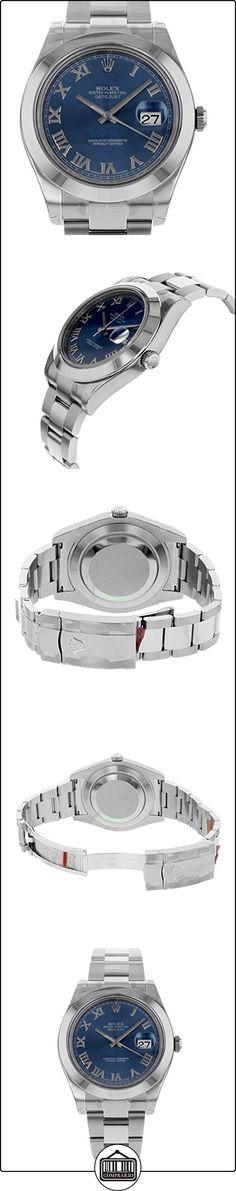 NUEVO Rolex Datejust II 41mm, de acero inoxidable Oyster romanos esfera azul reloj para hombre 116300blro  ✿ Relojes para hombre - (Lujo) ✿