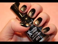 Easy New Years Eve Nails. I'm about to go repaint my nails right now and do this. Super cute and easy (: