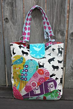 Sew Sweetness: Quilt Market Bag: Echino and Dresdens