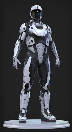 Society Guard Inspiration UEE Medium Marine - Character done for Cloud Imperium Games. Done in Zbrush and Keyshot. Concept by Jeremiah Lee and Rob McKinnon Suit Of Armor, Body Armor, Space Armor, Combat Armor, Combat Suit, Futuristic Armour, Arte Robot, Sci Fi Armor, Future Soldier