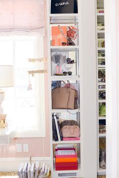 2 dream closet office leopard carpet white gold desk chandelier mirrored shelves tour better decorating bible blog ideas gold knobs chic girly walk in closet wardrobe