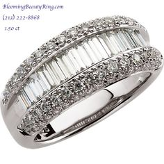 1.50 ctw diamond wedding ring or anniversary ring   http://www.BloomingBeautyRing.com  (213) 222-8868