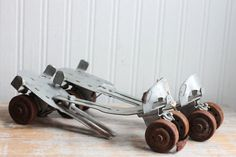 1950s Metal Roller Skates - Vintage Adjustable