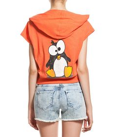 Orange Penguin Hoodie #zulily #zulilyfinds