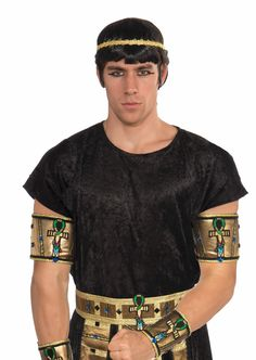 deluxe pair male egyptian costume armbands adult new