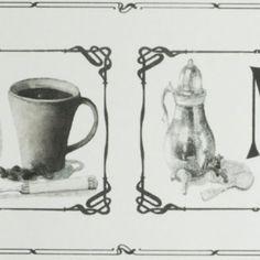 Border Galerie Fresh Kitchen 5 KV79530 - Klasyczny border kuchenny w klimacie Art Nouveau.