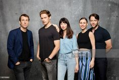 Cast of 'Outlander' (Tobias Menzies, Sam Heughan, Caitriona Balfe, Sophie Skelton and Richard Rankin) are photographed in the L.A. Times photo studio at Comic-Con 2017, in San Diego, CA on July 22, 2017.