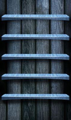 暗い木の棚のiPhone壁紙 | 壁紙キングダム スマホ版