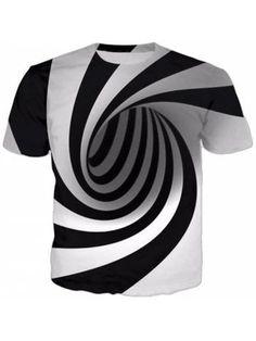 4f49604fb84a Alisister Black And White Vertigo Hypnotic Printing T Shirt Unisxe Funny  Short Sleeved Tees Men women Tops Men s T-shirt