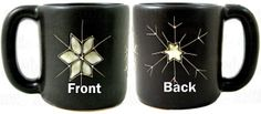Mara Stoneware Mug 16oz Snow Flakes