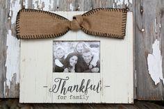 Thankful For Family Frame