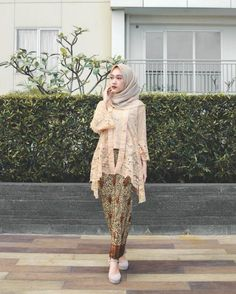 Discover recipes, home ideas, style inspiration and other ideas to try. Kebaya Modern Hijab, Model Kebaya Brokat Modern, Kebaya Hijab, Modern Hijab Fashion, Kebaya Muslim, Batik Fashion, Kebaya Kutu Baru Modern, Kebaya Lace, Kebaya Dress