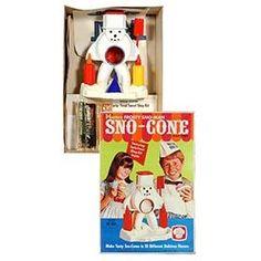 1969 Hasbro Frosty Sno-Man Sno-Cone Machine in Original Box