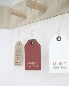 Large Christmas Tags