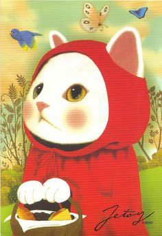 Red Riding Hood Cat // Jetoy