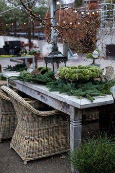 Photo - Deko Weihnachten - - New Ideas Natural Christmas, Outdoor Christmas, Rustic Christmas, Christmas Home, Outdoor Rooms, Outdoor Gardens, Outdoor Living, Outdoor Decor, Garden Shop