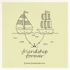 Doodle Everyday 381:    Friend-Ship Forever