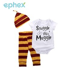 >> Click to Buy << Ephex Hot Summer 3PCS Sets Baby Kids Clothes Toddler Letter Printed Babysuit+Striped Long Pants with Hat Outfits Infant Clothing #Affiliate