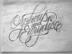 "Title Lettering of ""Orpheus & Eurydice"" Film for Gucci on Behance"
