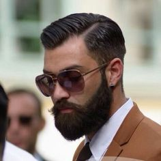 Hairstyle Beard Glasses Earing