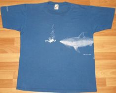 Vintage OH SHIT shark attack t-shirt. Very good pre-owned condition.