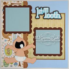 First Tooth Boy Scrapbook Page