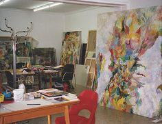 Bernard Schulze in zijn atelier in Keulen.