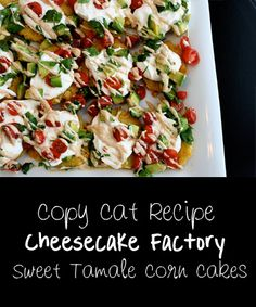 If you have tasted the goodness of Sweet Tamale Corn Cakes than you already know how AMAZING this recipe is....everyone else should just take our word for it!!!!