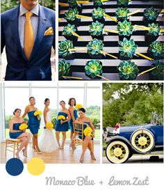 wedding ideas with blue, yellow and white ...Colores primavera boda 2013 pantone amarillo y azul marino