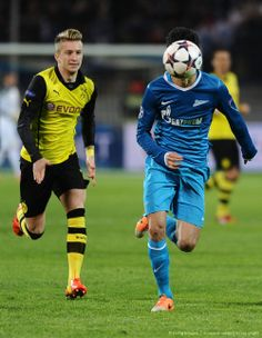 Marco Reus and a ball-headed Zenit player