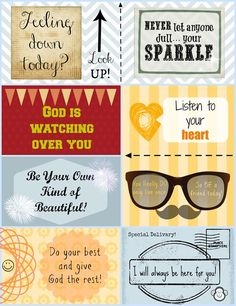 More Lunch Box Love Notes - Free Printable - Faith Filled Food for Moms