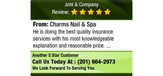 He is doing the best quality insurance services with his most knowledgeable  explanation...