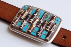 Africa - Mosaic Belt Buckle with leather strap
