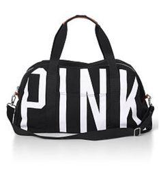 a1bd0d49359 Black Love Pink Duffle Bag Victoria Secret Pink, Victoria Secrets, Vs Pink,  Pink