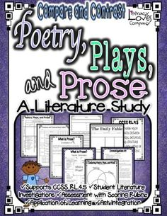 Poetry, Drama, and Prose {CCSS RL.4.5}