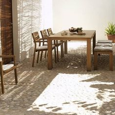 The Kos Teak collection.. designed by Studio Segers.