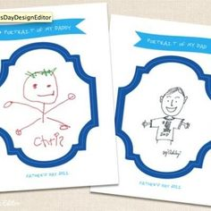 Father's Day Printable Frames for shorties to design