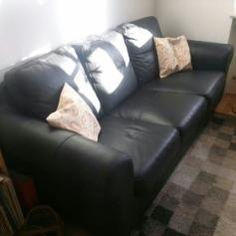Gebraucht LEDER-Couch/Sofa, Preis (VB),+ schlafen