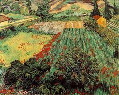 Vincent van Gogh Field with Poppies oil painting for sale; Select your favorite Vincent van Gogh Field with Poppies painting on canvas and frame at discount price. Vincent Van Gogh, Van Gogh Arte, Van Gogh Pinturas, Paul Cézanne, Van Gogh Paintings, Art Van, Dutch Painters, Post Impressionism, Impressionist Art