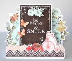A step card made using the Storyteller Collection from Kaisercraft by Kelly-ann Oosterbeek.