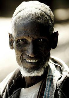 Old Afar man in Bati, Danakil, Ethiopia