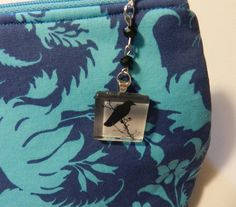 Crow Cabochon  Zipper pull Purse Pull Hoodie by JnJGiftsnCrafts