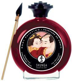 Peinture pour le corps Vin Petillant-Fraise Shunga 100 ml - Huiles de massage - my-sexshop.fr®