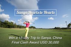 """Want a 15-day #FreeTrip to #Sanya, #China? #SanyaRepin #SanyaHeartstoHearts #campaign! ONLY 2 steps to go golfing at the most #refreshing golf course in Sanya: 1. Comment """"I want to join #SanyaHeartstoHearts"""" below to enroll and be lucky for a #gift. 2. Two clicks to issue your invitation post: https://app.gotrips.net/#goto2 and compete for the final big prize. Learn more https://www.facebook.com/Sanya.China/app/572110882950571/ #SanyaH2HRecruitment"""