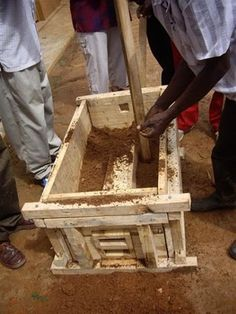 making a rammed earth cooking stove
