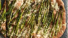 Roasted Asparagus and Fontina Pizza | Craving pizza but don't want the fat? These healthy recipes use whole-wheat crust and deliver big, bold flavors.